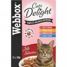 Webbox Cat Pouches in Jelly - 12 x 100g