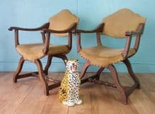 Antique oak dining chairs (set of 4)