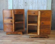 Art deco bedside cabinets - SOLD