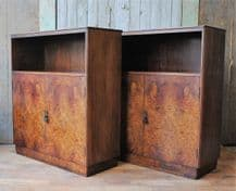 Art deco cabinets - pair - SOLD