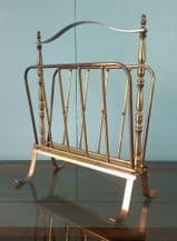Brass magazine rack - SOLD