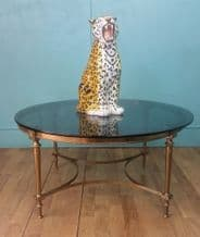 Brass round coffee table - SOLD