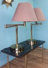 Brass swing arm table lamps - SOLD