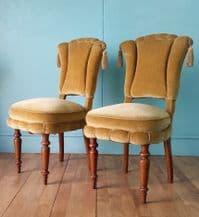Danish yellow side chairs - pair