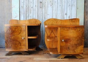 French art deco bedside cabinets - SOLD
