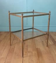French brass & glass side table - SOLD