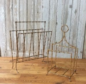 French brass magazine holders - SOLD