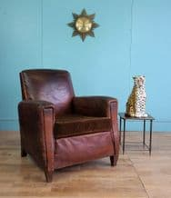 French deco leather club chair - SOLD