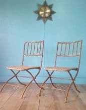 French faux bamboo garden chairs - SOLD
