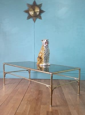 French faux brass coffee table - SOLD