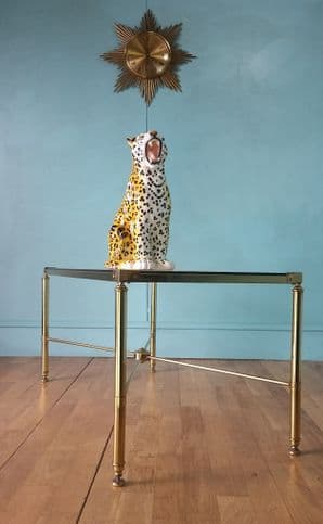 French gold coffee table