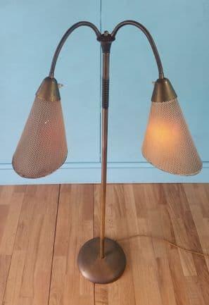 German brass floor lamp