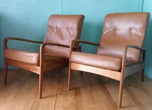 Greaves & Thomas leather lounge chairs