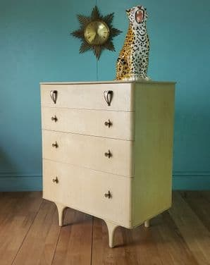 Mid century painted chest of drawers - SOLD
