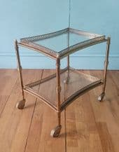 Small brass drinks trolley - SOLD