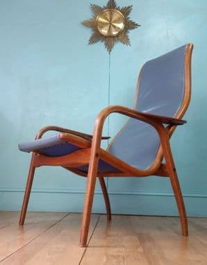 Swedish Lamino leather chair - SOLD