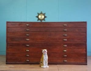 Vintage architects plans chest - SOLD