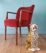 Vintage theatre side chair