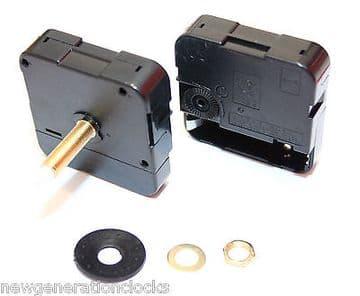 5x Quartz DIY ticking clock movement, Extra Long 31mm shaft mechanism and hands (1)