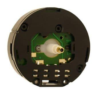 Quartz round UTS euroshaft carriage clock movement, 15mm shaft