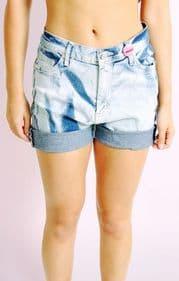 Bleachwash Denim Shorts