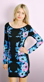 Celebrity Floral Printed Dress