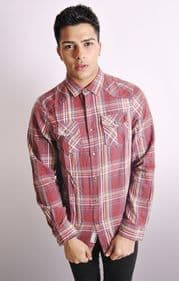Check Flannel Shirt In Red