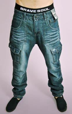 Distressed Dark Denim Jeans