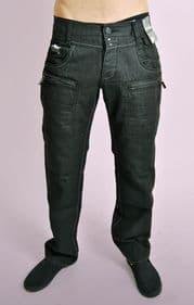 Hardwearing Black Straight Leg Jeans