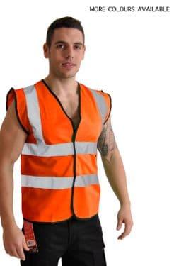High Visibility Safety Vest - 4 PACK