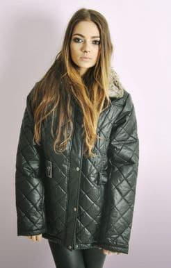 Ladies Black Quilted Jacket
