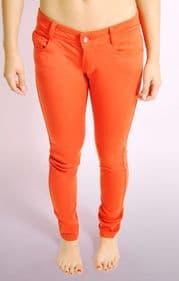 Ladies Coral Skinny Jeans