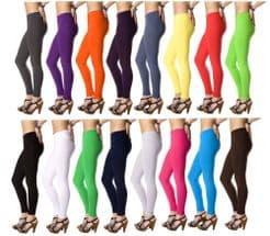 Ladies Full Length Plain Leggings