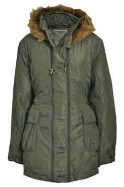 Ladies Plus Size Winter Hooded Jacket
