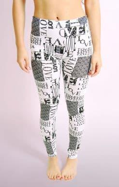 LOVE Print Leggings