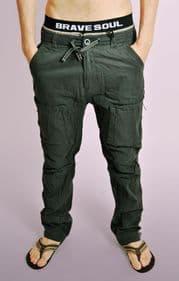Mens Charcoal Cotton Combat Pants