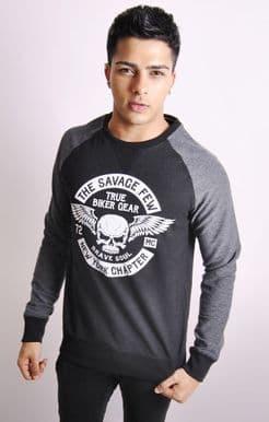 Raglan Sweatshirt With Graphic Front