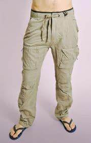 Stone Cotton Combat Pants