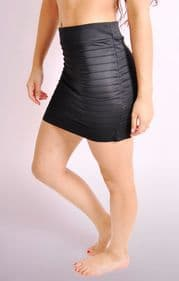 Stretch  Hi Waist Mini Skirt
