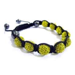 Unisex Yellow Shamballa Style Bracelet