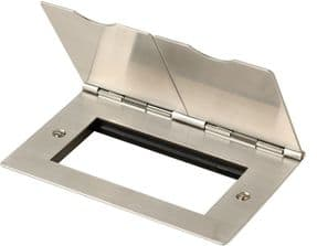 FS312SS - Twin Aperture Floor Plate (Stainless Steel)