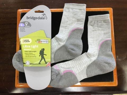 Bridgedale Womens Woolfusion Trail Ultralight Socks
