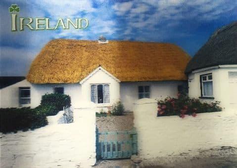Cottage Landscape 3D Irish Postcard