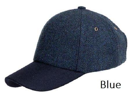 Denton Tweed Unisex Baseball Cap - 100% Tweed Material