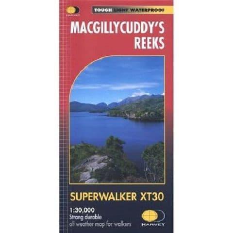 Harvey Superwalker Irish Map -  Macgillycuddys reeks, 1:30000