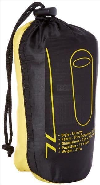 Highlander Mummy Style Sleeping Bag Liner - Polycotton - Travel