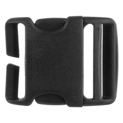 Highlander Quick Release 50MM Buckle - Black Plastic - Rucksack / Backpack