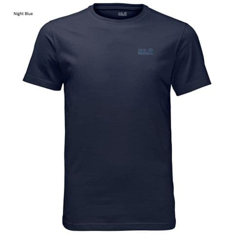 Jack Wolfskin Mens Essential Tee - Organic Cotton - Plain T-shirt