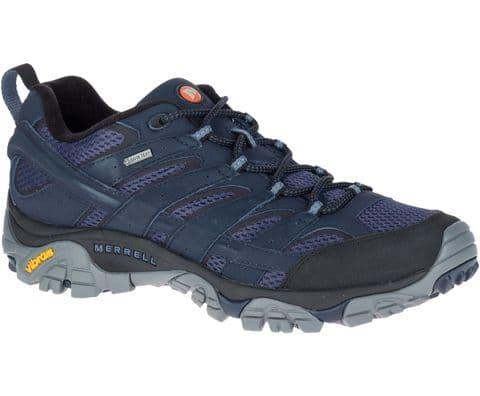 Merrell Mens  Moab 2 Gore -Tex Navy Hiking/Walking Waterproof Shoe