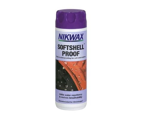 Nikwax Softshell Proof Wash In - Waterproofing for Softshell Clothing - 300 ML